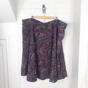 {ModCloth} Plus Size 4X Paisley Print Skirt